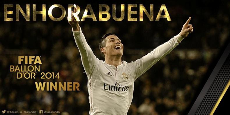 Cristiano se llevó en Balón de Oro 2014