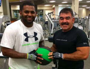 Sandoval working out