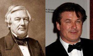 El presidente Millard Fillmore y Alec Baldwin