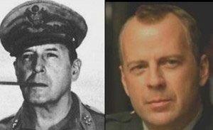 General Douglas Macarthur WWII y Bruce Willis