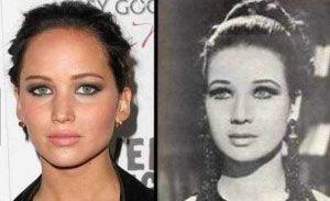 La actriz egipcia Zubaida Tharwat Y Jennifer Lawrence