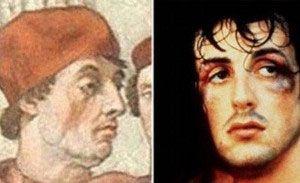 El Papa Gregory IX y Sylvester Stallone