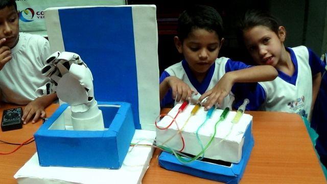 Invento de la mano robotica