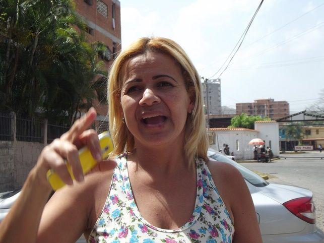 Lisette Andrade, habitante del sector