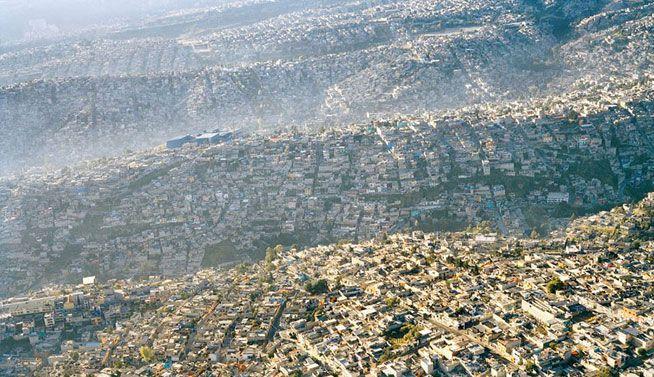 Ciudad de México paisaje, 20 millones de habitantes