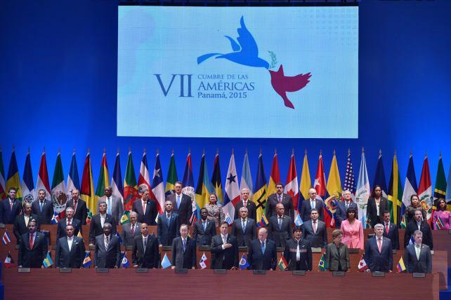 Foto oficial de los Presidentes que asistieron a la Cumbre de Las Américas