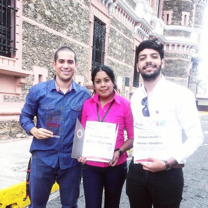 Licenciados Giuseppe Argento, Raiza Villafranca e Ian Martínez Cova