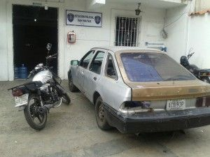 En estos dos vehículos se desplazaban la banda