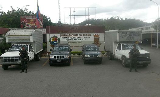 GNB recupera cuatro vehículos