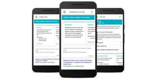 Google asume su rol en las consultas médicas caseras