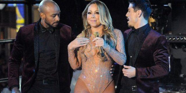Mariah Carey tuvo una accidentada actuacción en la fiesta de Año Nuevo en NY