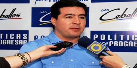 Ceballos competirá por la gobernación del Táchira