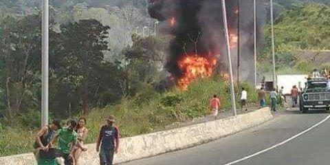Gandola se incendió en la ARC