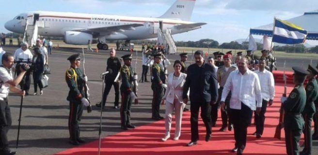Maduro arribó a Nicaragua