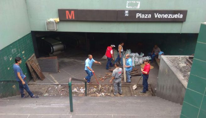 Metro de Caracas ejecuta Plan Cayapa