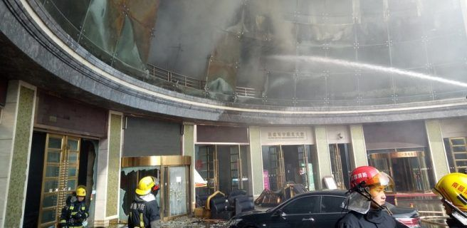 Incendio de hotel en China deja 10 muertos