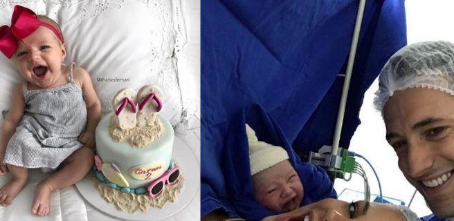 La tierna sonrisa de una recién nacida que enamora las redes