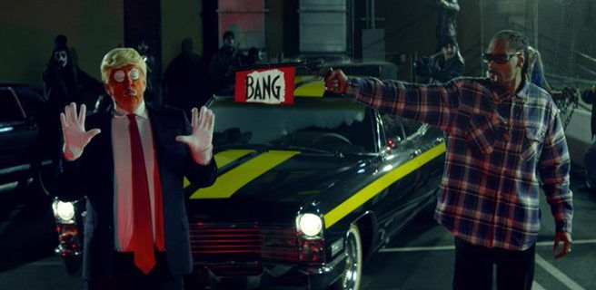 Snoop Dogg le dispara a Trump