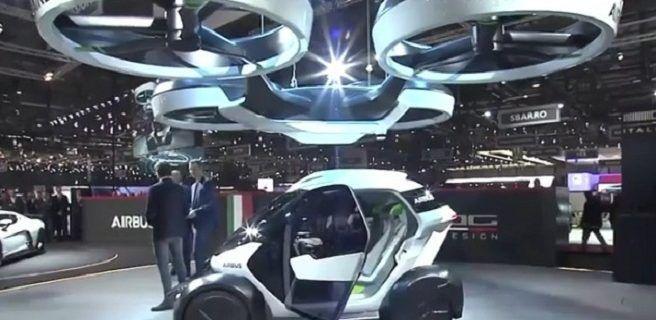 El auto que se convierte en una cápsula voladora de pasajeros para escapar del tráfico