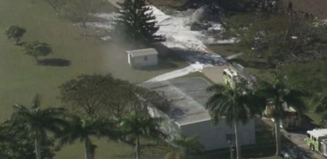 Se estrella avioneta en una Finca de Nacho en Miami