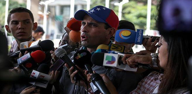 Capriles a favor de que apliquen Carta Democrática a Venezuela