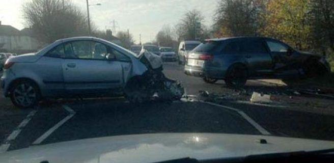 David Beckham y su hijo sufren accidente de tránsito