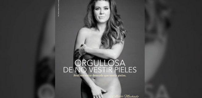 Alicia Machado: Prefiero estar desnuda que vestir pieles
