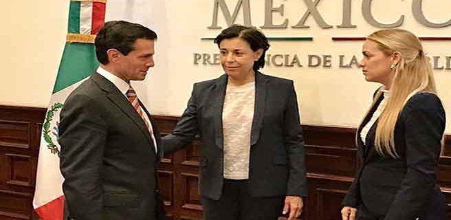 Presidente de México recibe a Tintori