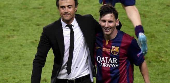 """""""Intachable"""", dice Luis Enrique sobre el comportamiento de Lionel Messi"""
