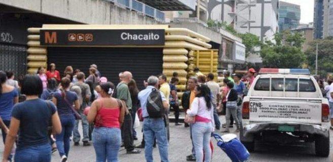 Cierran 20 estaciones del Metro de Caracas
