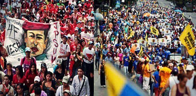 Oficialismo y oposición marchan hoy