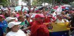 Adultos mayores oficialistas marchan en apoyo a Maduro y proceso constituyente