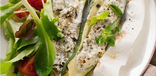 ¡Sano y sabroso!: Calabacín relleno con pollo y espinacas
