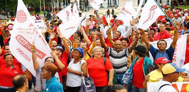 Sector oficial marcha en Maracay por apoyo a la ANC