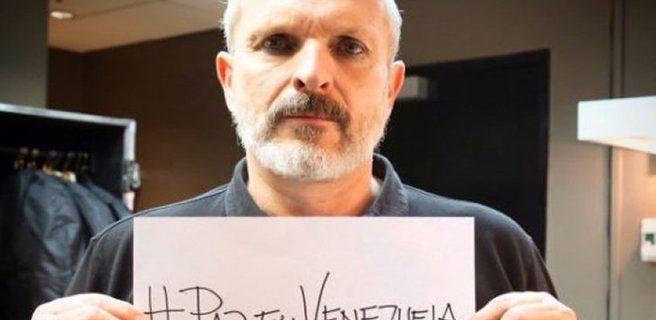 Miguel Bosé pidió la paz para Venezuela