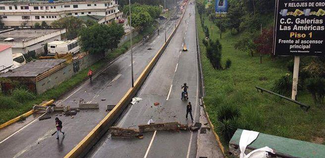 Molina rechazó tranca en la Panamericana