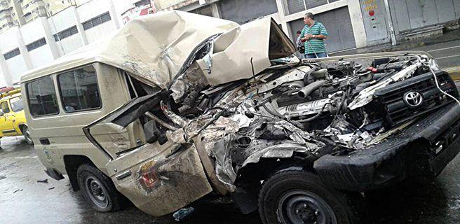 Seis militares heridos tras choque en Maracay
