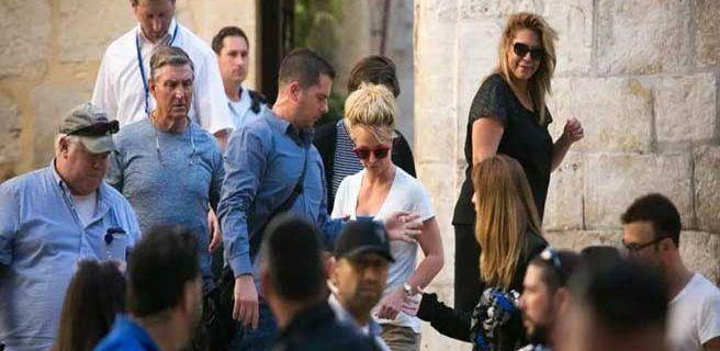 Britney Spears realizó una visita al Muro de las Lamentaciones