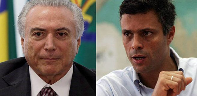 López pide a Temer apertura de canal humanitario