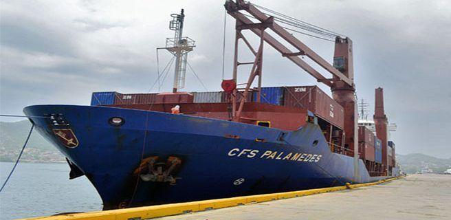 Más de 3 mil toneladas de alimentos arribaron al Puerto de Guanta