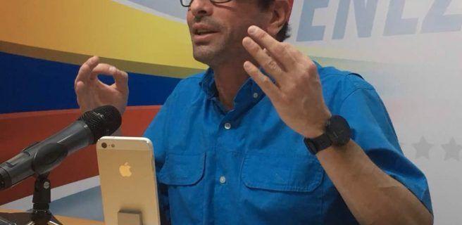 Capriles habla del quiebre moral