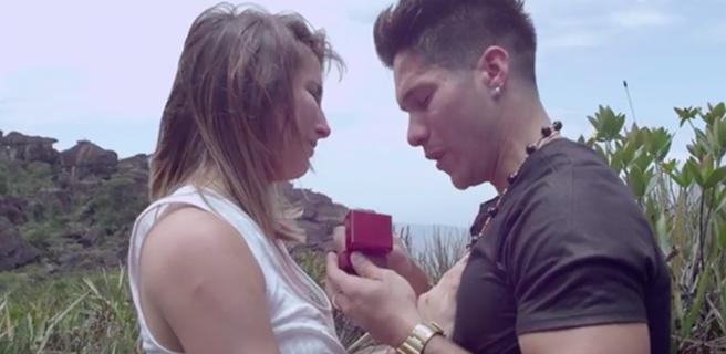 Chyno propone matrimonio a su novia en el Salto Ángel