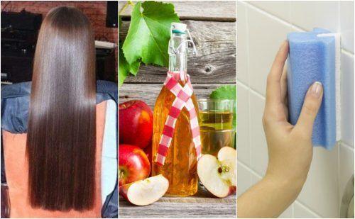 El vinagre de manzana es algo tan útil que puedes sustituir productos costosos por su uso