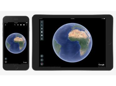Google Earth, disponible para dispositivos con plataforma iOS