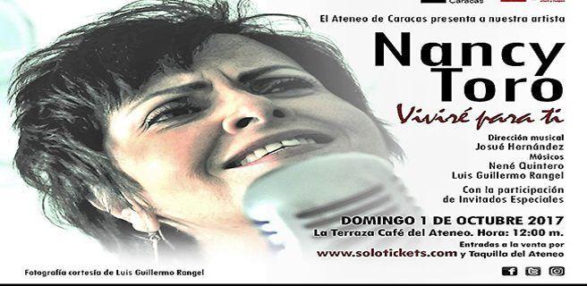 """Concierto """"Viviré Para Ti"""" de Nancy Toro llega a La Terraza del Ateneo de Caracas"""
