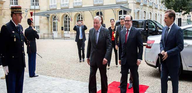 Borges se reúne en el Senado francés