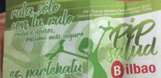 Polémica por una campaña en Bilbao que informa sobre cómo consumir cocaína