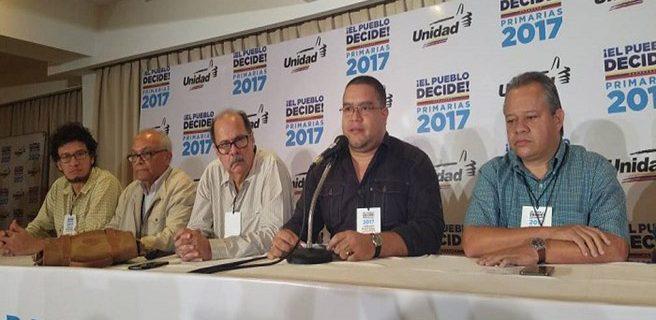 MUD anuncia candidatos a regionales