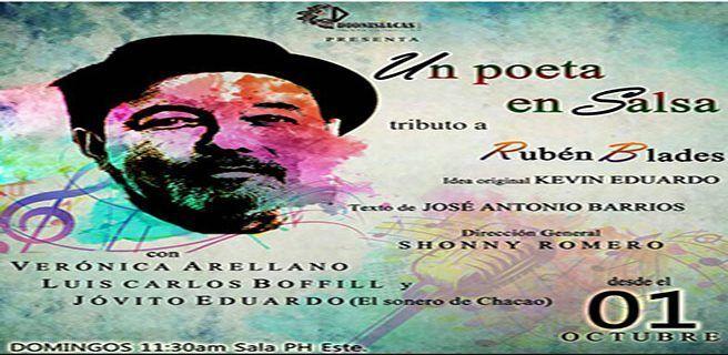 """Espectáculo """"Un poeta en salsa, al Cantautor Latinoamericano RUBÉN BLADES"""" se instala en los escenarios del Centro Cultural BOD"""