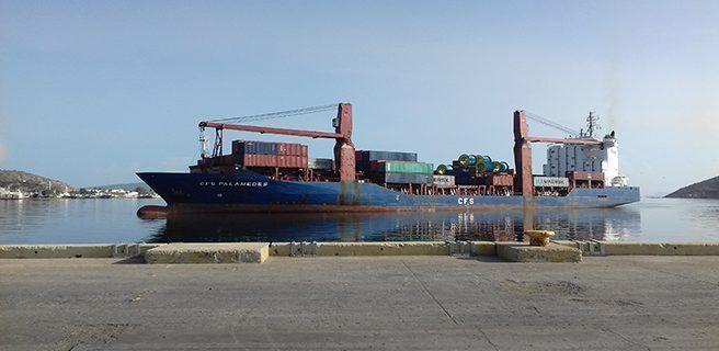 88 contenedores de alimentos y otros rubros arribaron al Puerto de Guanta